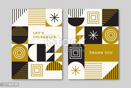 Retro greeting card designs for all occasions. Vector artwork is easy to colorize, manipulate, and scales to any size.