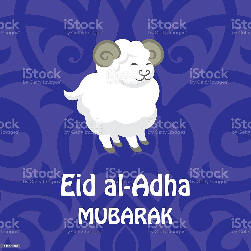 Greeting Card Eid Al Adha Stock Vector Art More Images Of Animal