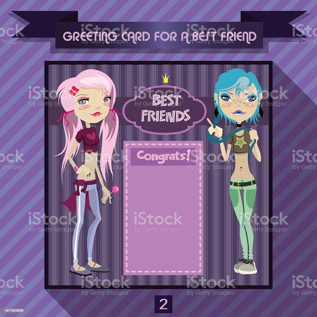 Greeting Card For A Best Friend Birthday Greetings For Girls Stock