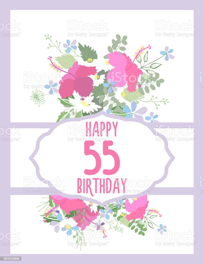 Greeting Card For Anniversary Birthday Stock Vector Art More