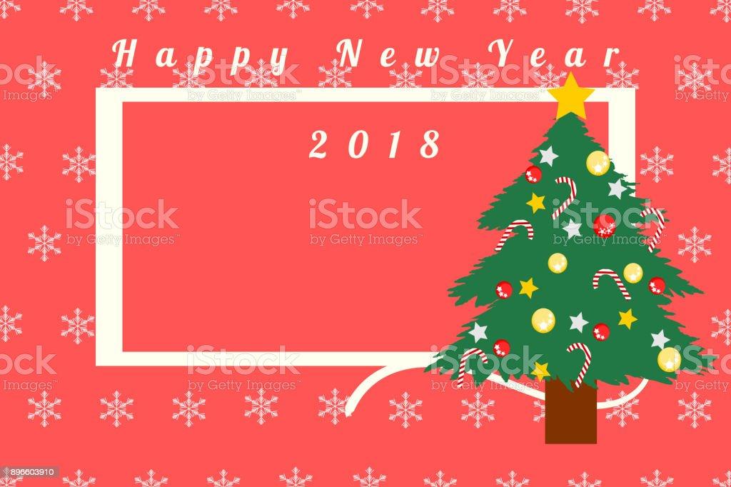 Ilustración de Tarjeta De Felicitación Para Navidad Y Año Nuevo 2018 ...
