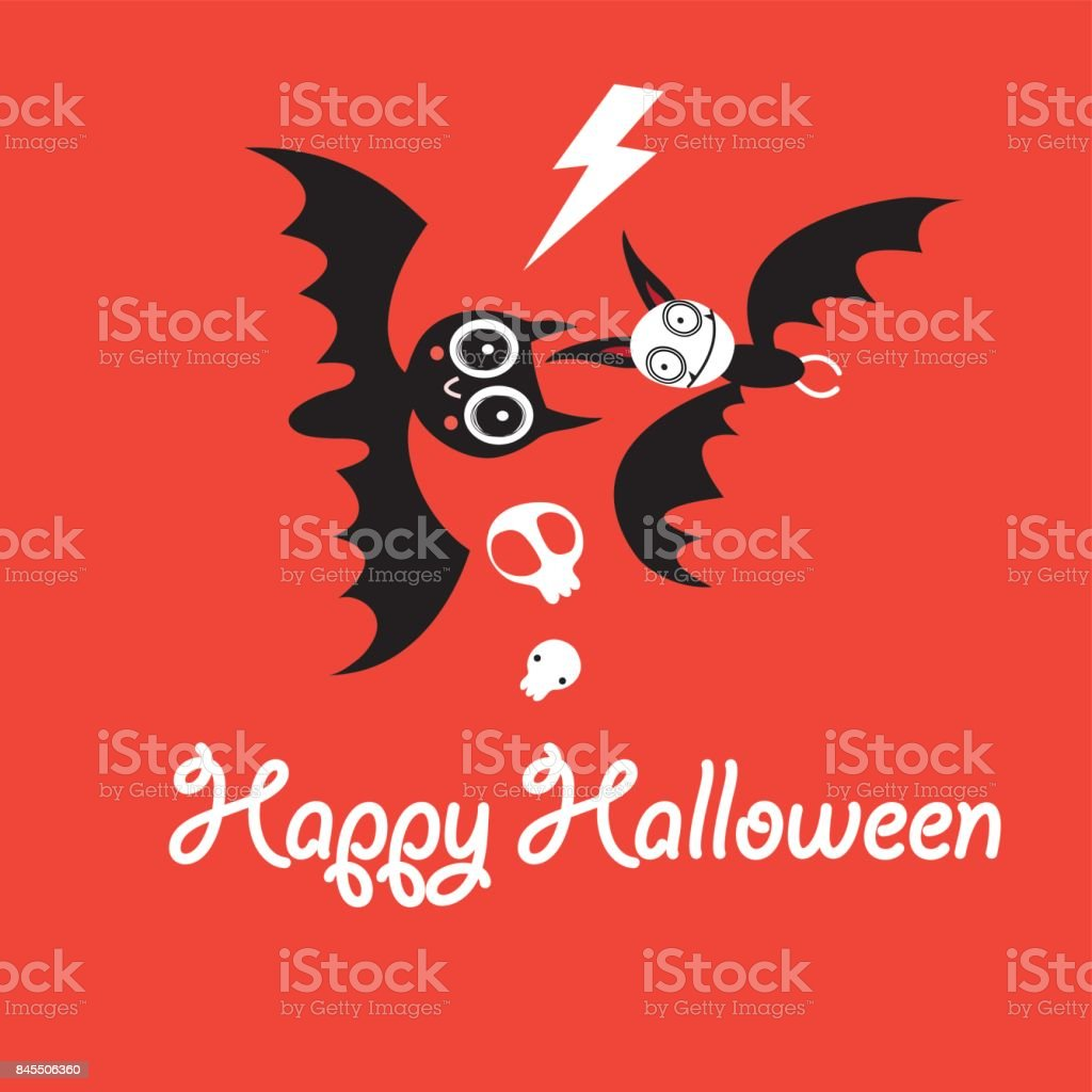 Greeting Card For Halloween Stock Vector Art More Images Of