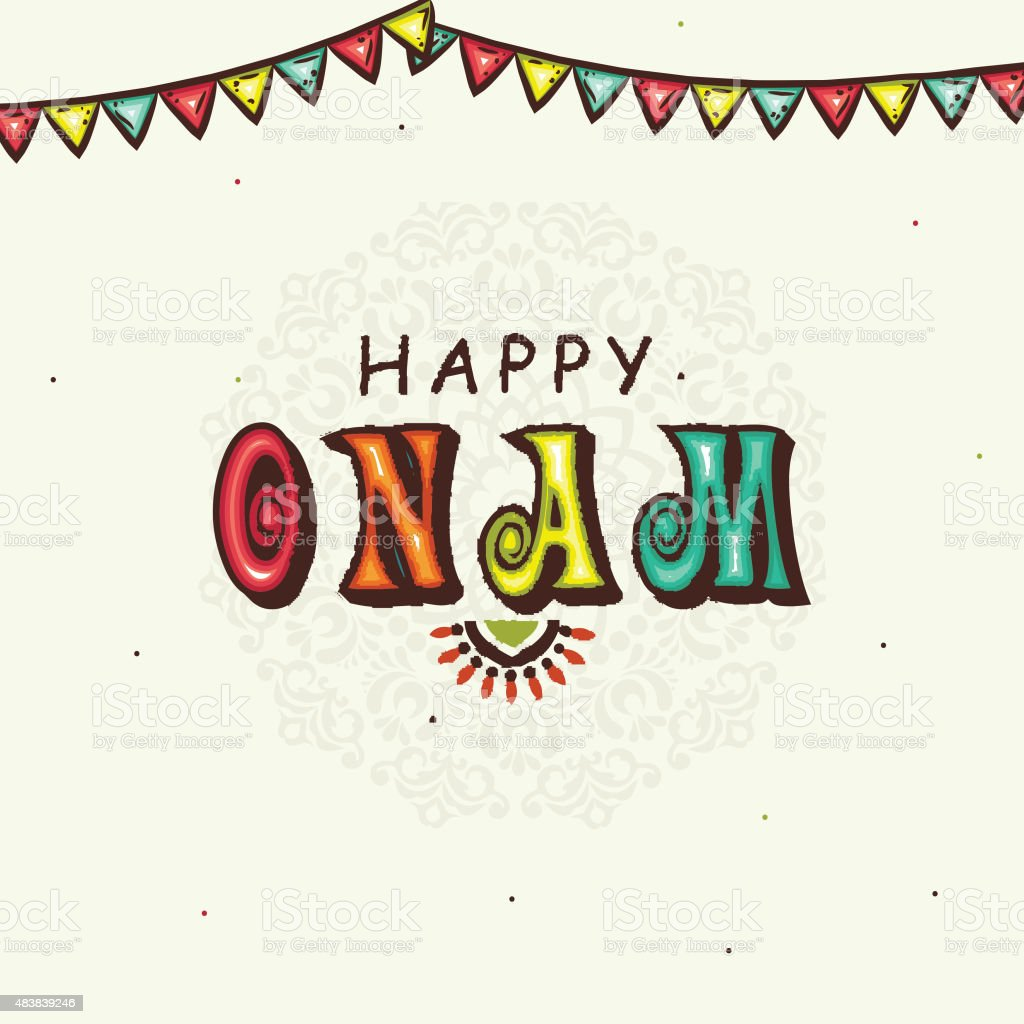 Greeting Card For Happy Onam Celebration Stock Vector Art More