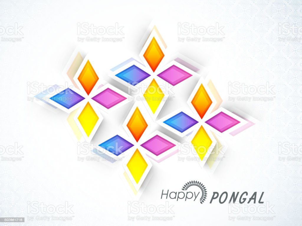 Greeting Card For Happy Pongal Celebration Stock Vector Art More