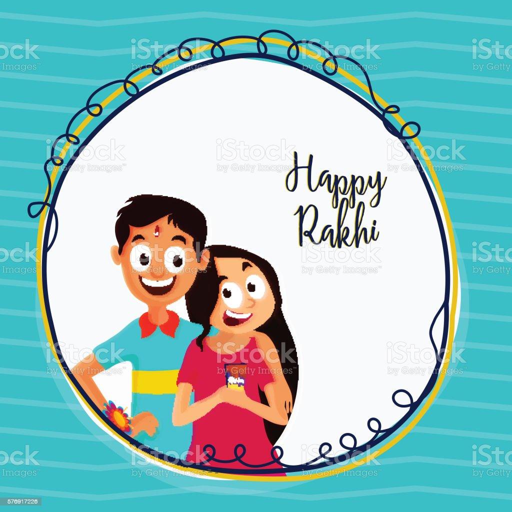Greeting Card For Happy Rakhi Celebration Stock Vector Art More