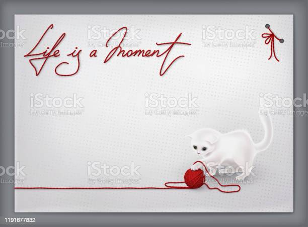 Greeting card for holiday event template with funny white cat playing vector id1191677832?b=1&k=6&m=1191677832&s=612x612&h=w3nkxbi0e e3mck61tyggg61ey0ozrirq3n7kkgpzsq=