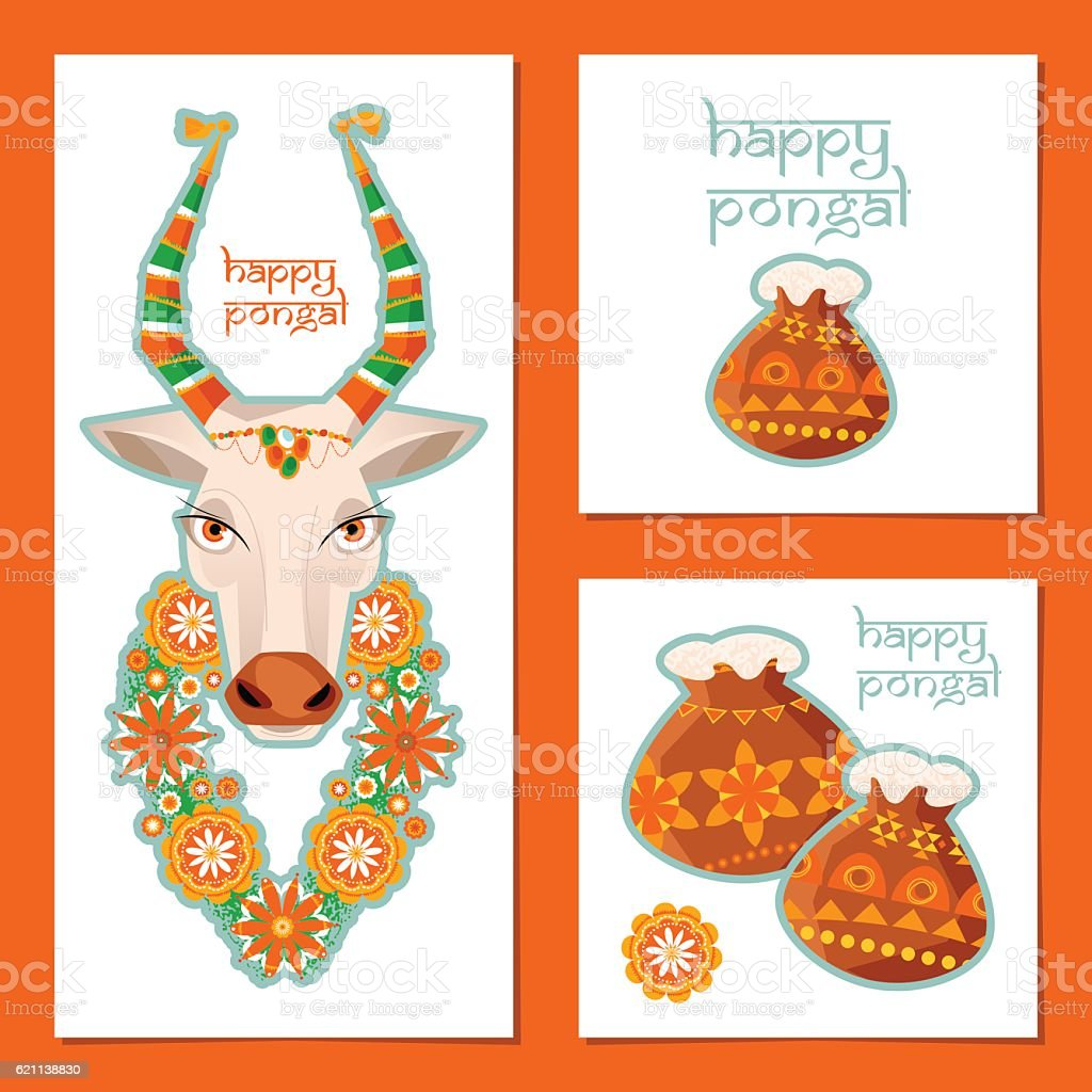 Greeting card for indian harvesting festival pongal template stock greeting card for indian harvesting festival pongal template royalty free greeting card for m4hsunfo