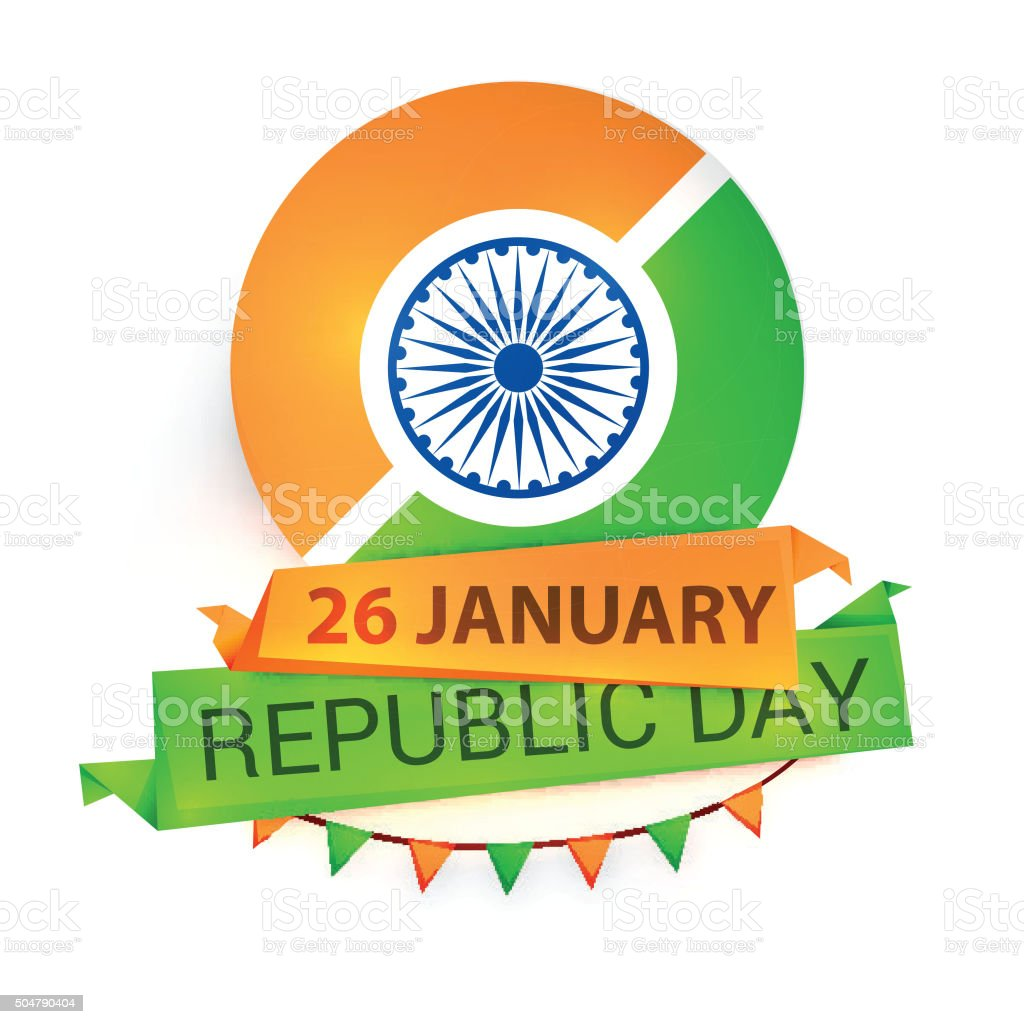 Greeting Card For Indian Republic Day Celebration Stock Vector Art