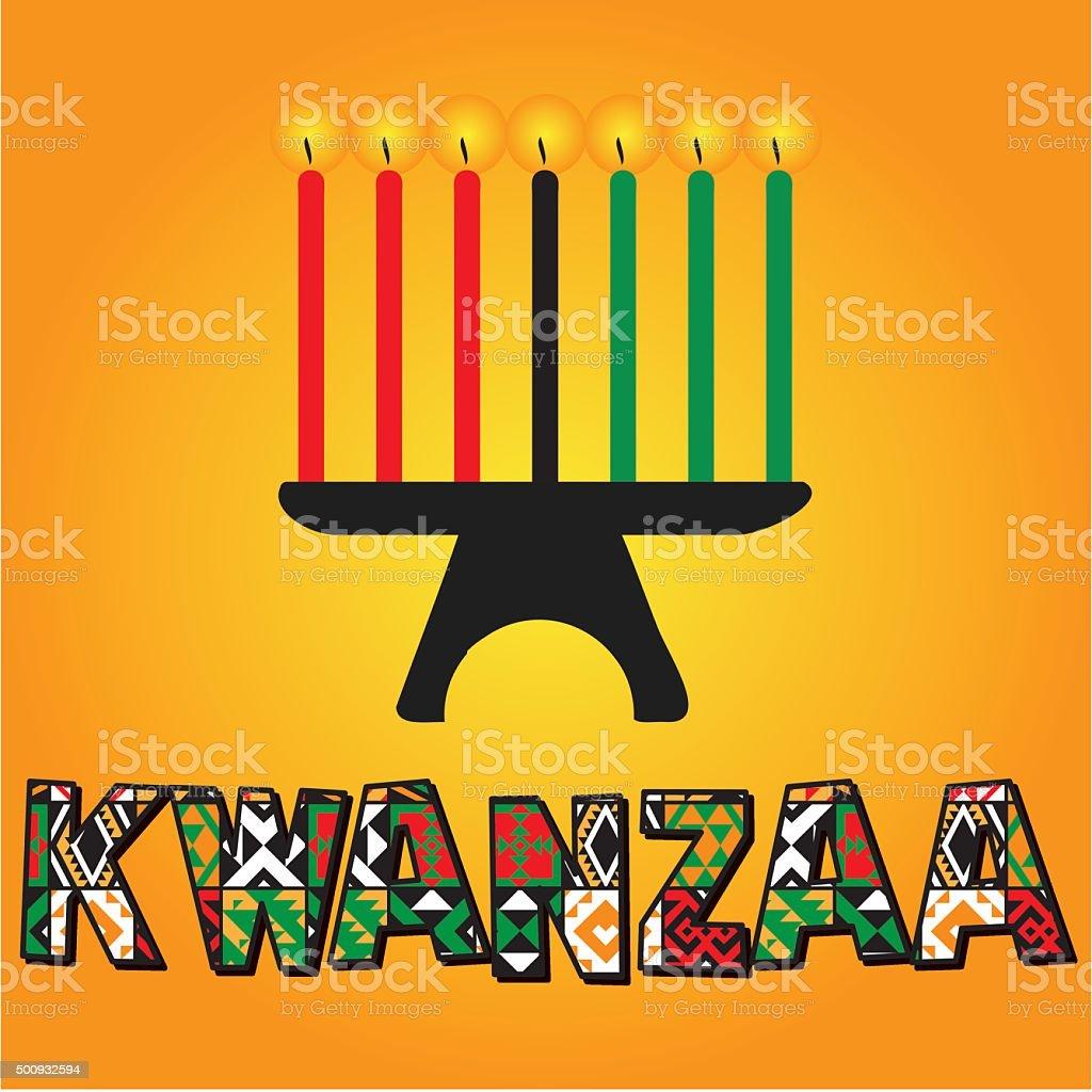 Cartão de saudação do Kwanzaa. - ilustração de arte em vetor