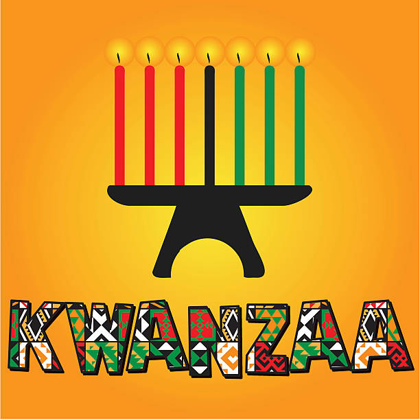 Greeting card for Kwanzaa. vector art illustration