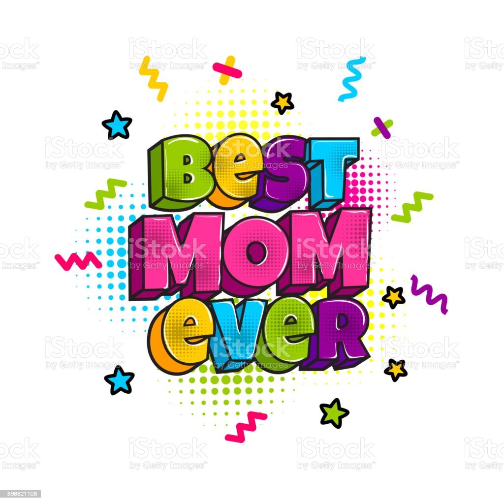 Greeting Card For Mommy Mom Mother Stock Vector Art More Images Of