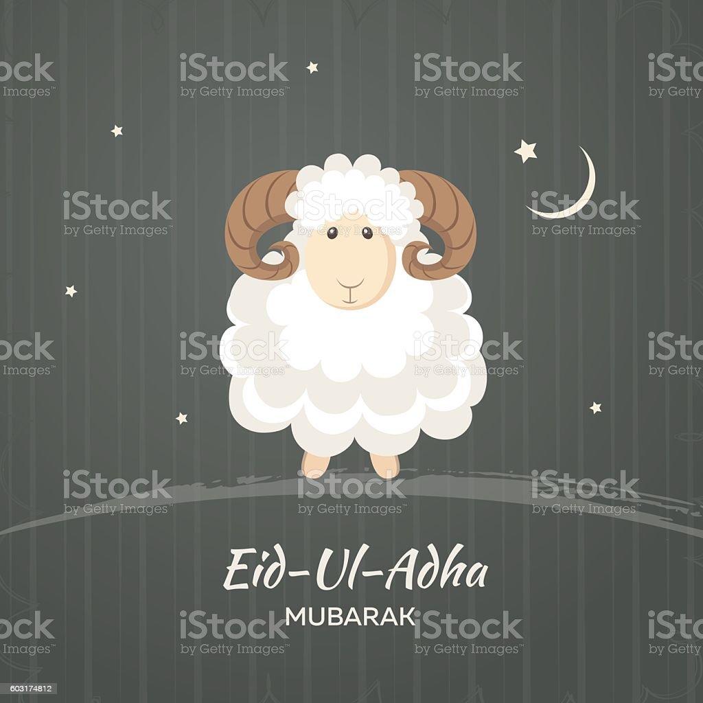 Greeting Card For Muslim Community Festival Of Sacrifice Eiduladha
