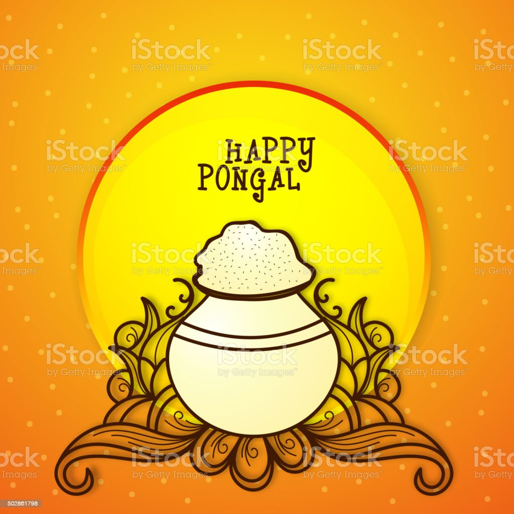 Greeting Card For Pongal Celebration Stock Vector Art More Images