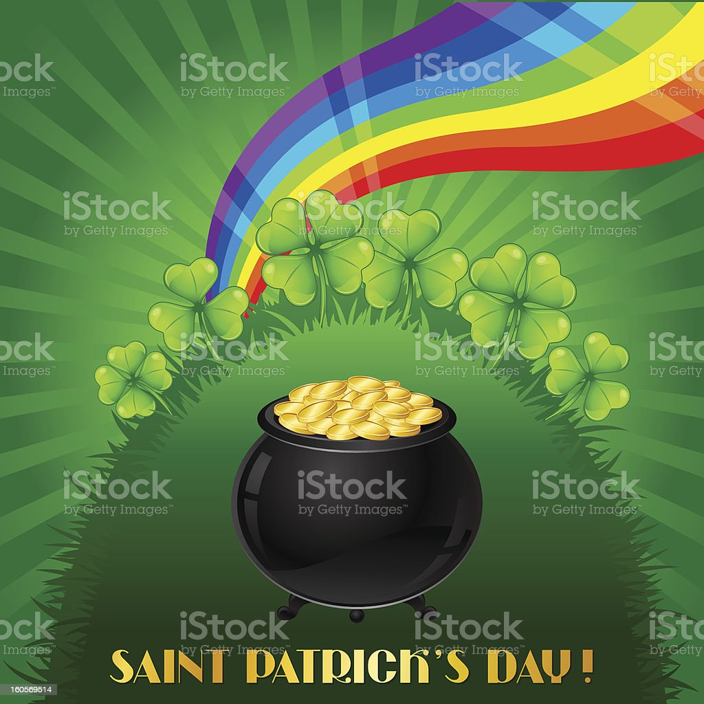 Greeting card for Saint Patrick's day. royalty-free stock vector art