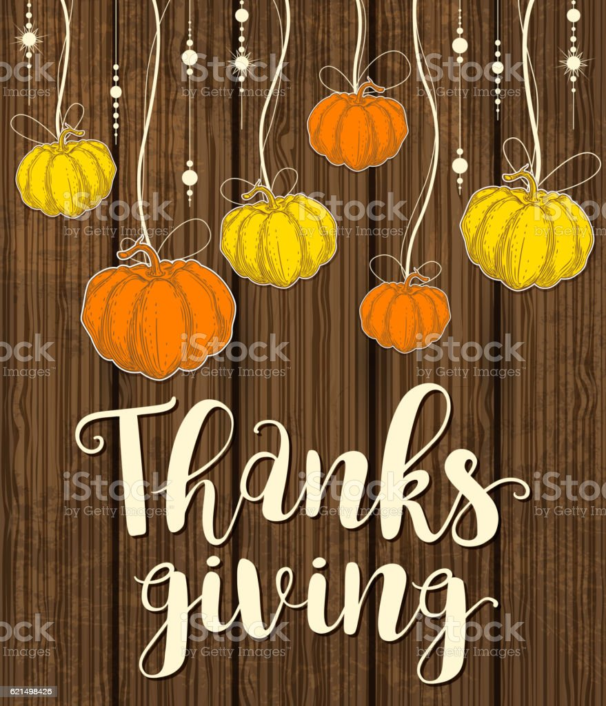 Greeting card for Thanksgiving Day greeting card for thanksgiving day - immagini vettoriali stock e altre immagini di arancione royalty-free