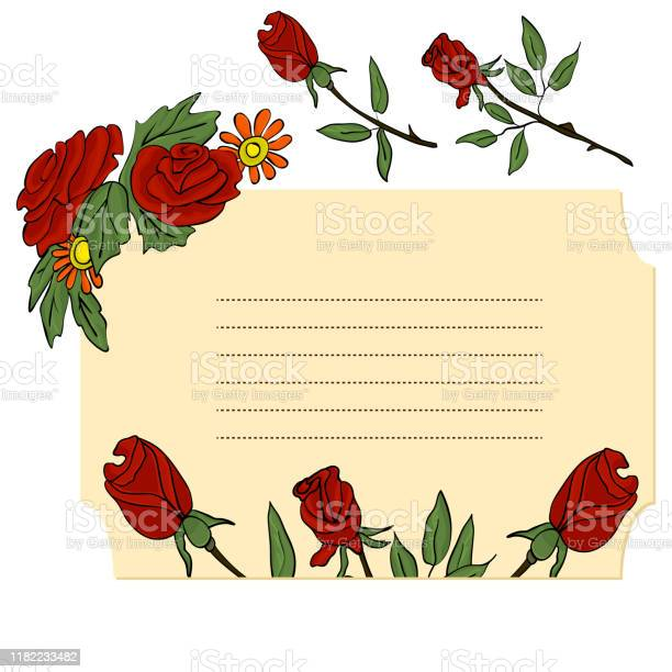 Greeting card for valentines day with red roses vector flowers for vector id1182233482?b=1&k=6&m=1182233482&s=612x612&h=kdeskplo9t 2vibf2rhdp91jtyv9ffkfju5i lszx1a=