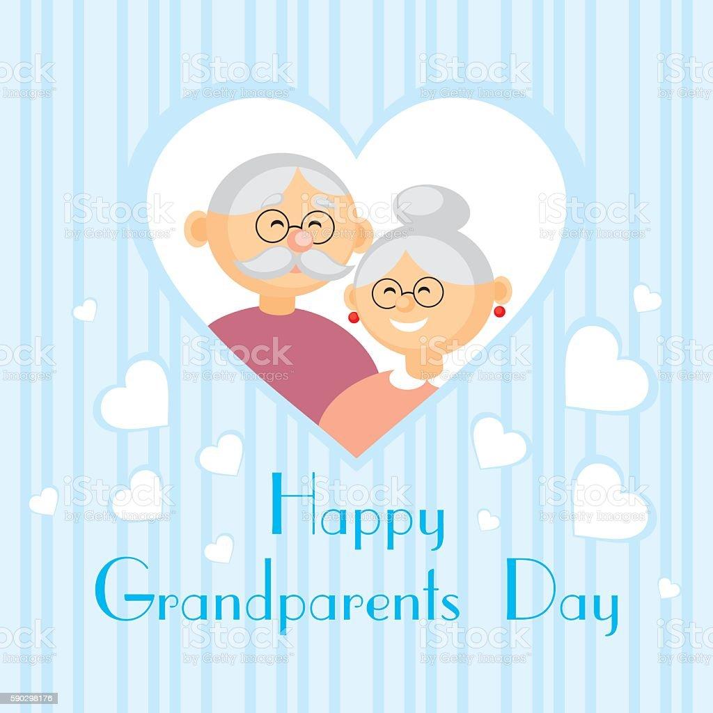 greeting card  grandparents day royaltyfri greeting card grandparents day-vektorgrafik och fler bilder på förälders far