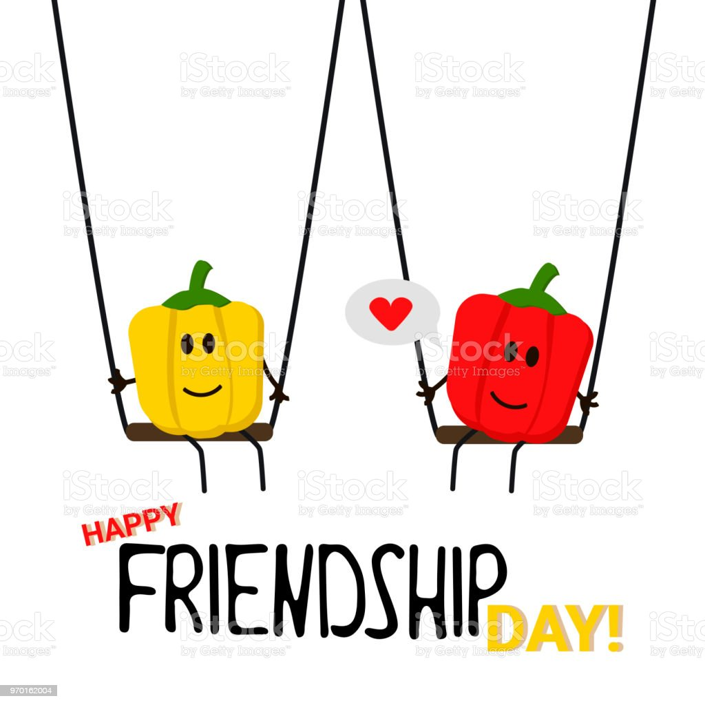 Greeting Card Happy Friendship Day Stock Vector Art More Images Of