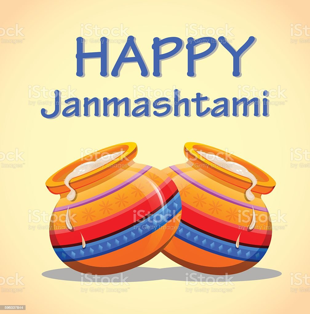 Greeting card Happy Janmashtami royalty-free greeting card happy janmashtami stock vector art & more images of backgrounds