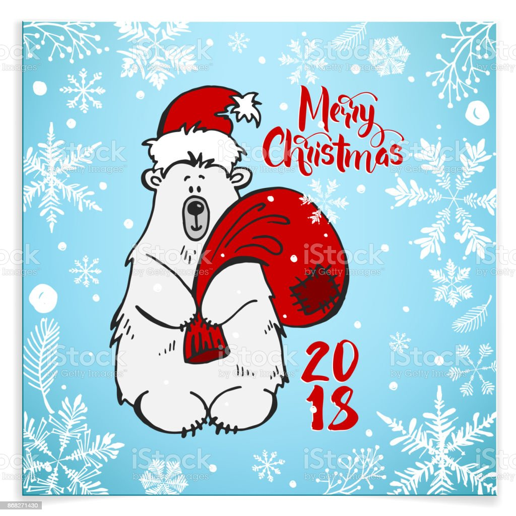 Greeting Card Happy New Year And Merry Christmas With Beer Lettering Merry Christmas And Happy