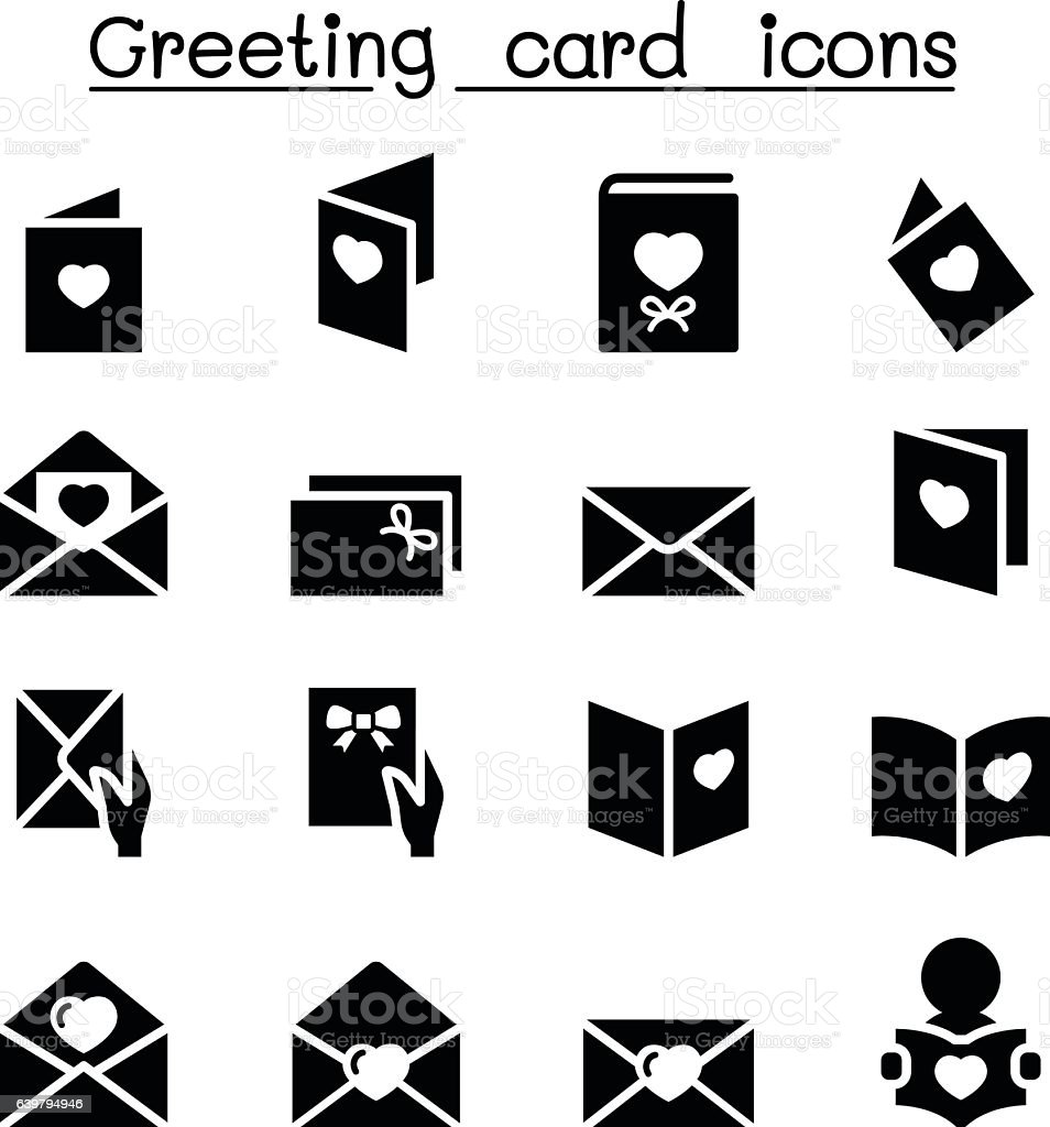 Greeting card icon set stock vector art more images of celebration greeting card icon set royalty free greeting card icon set stock vector art amp m4hsunfo