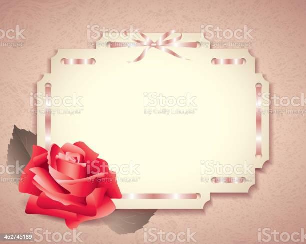 Greeting card in retro style with rose vector id452745169?b=1&k=6&m=452745169&s=612x612&h=f1uvmdmbm2j5bpyadiot6enszjukx3sh8urobbib hq=