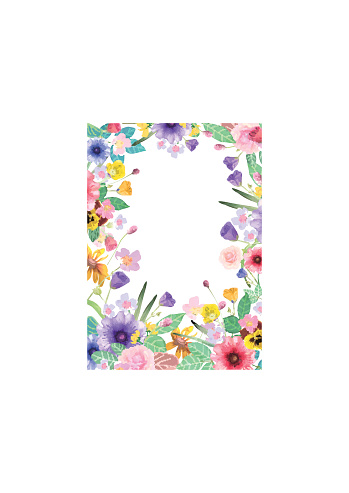 Greeting card, invitation, banner. Frame for your text with flor