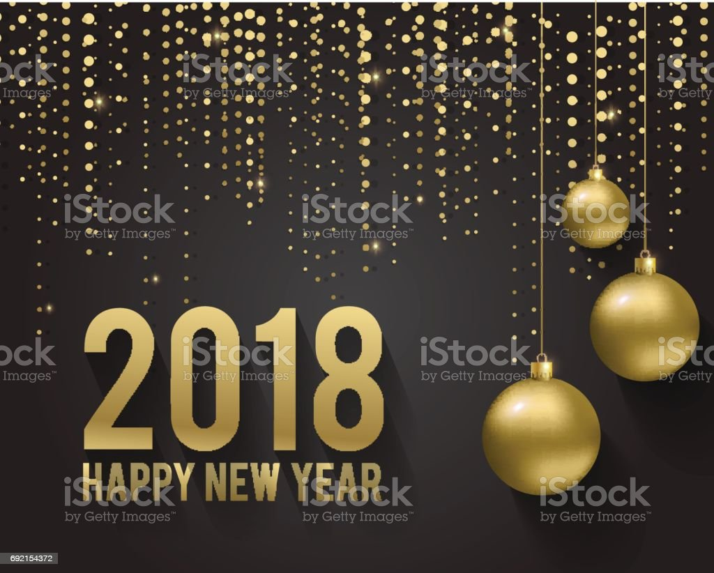El Dorado Credit Card >> Greeting Card Invitation With Happy New Year 2018 And ...