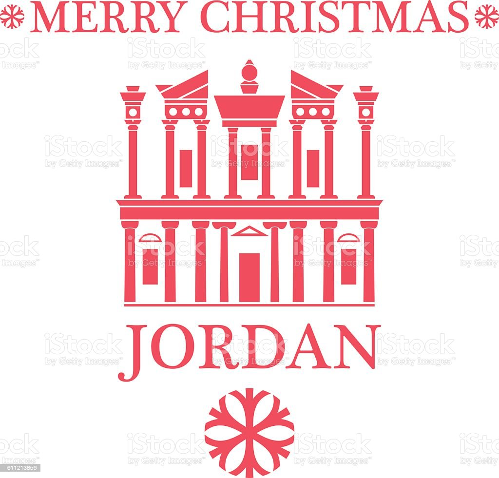 Greeting Card. Jordan vector art illustration