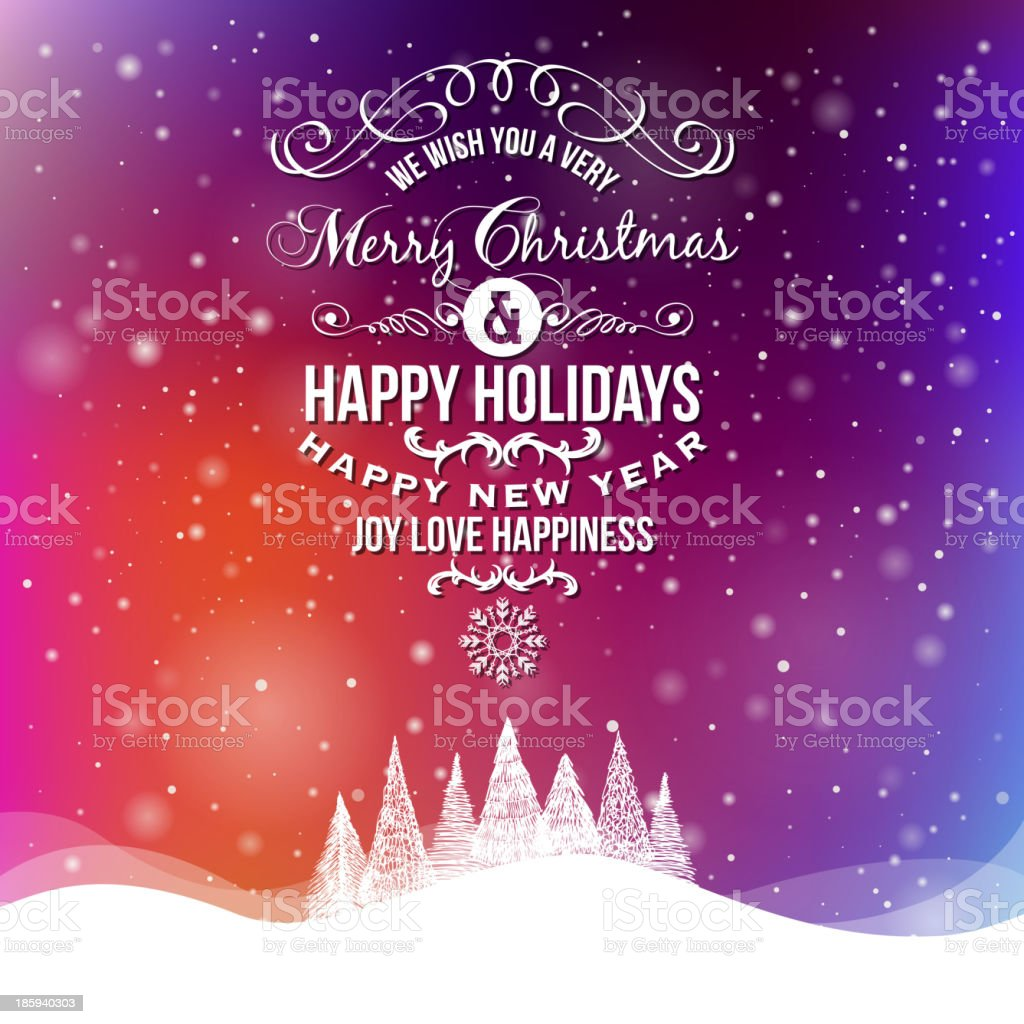Greeting Card. Merry Christmas lettering royalty-free stock vector art