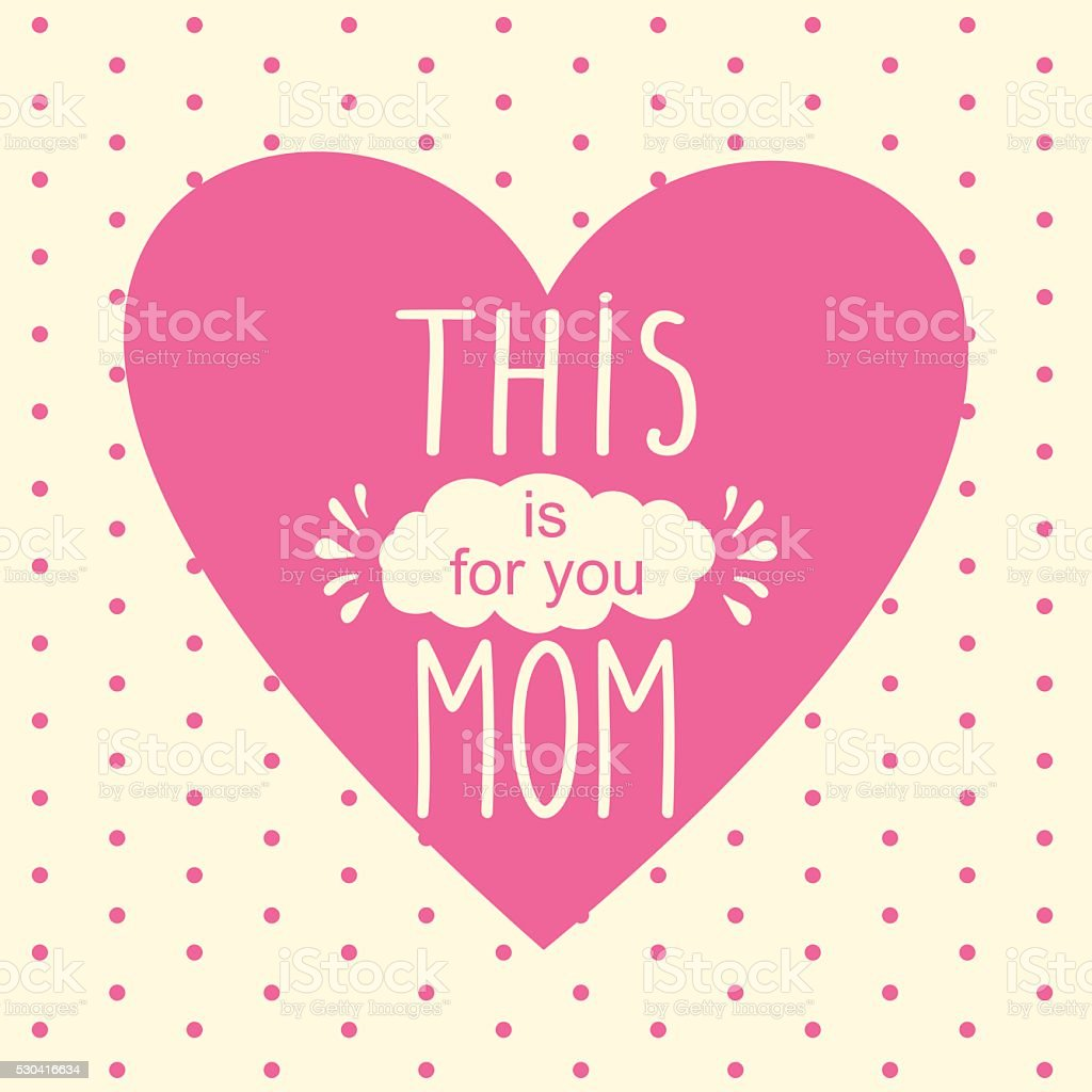 Greeting Card On Mothers Day Vector Illustration Mothers Day Stock