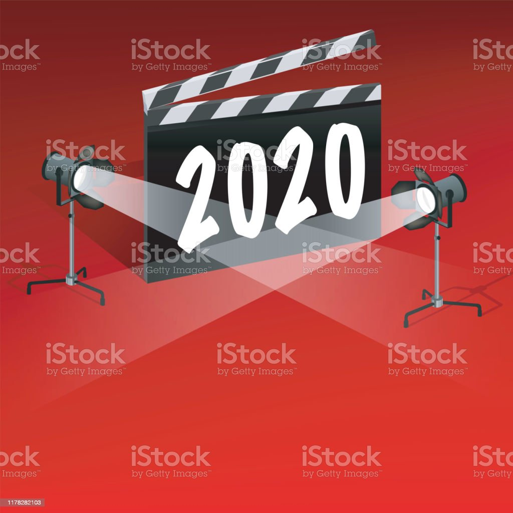 2020 Greeting Card On The Theme Of Cinema And Film Festivals Stock Illustration Download Image Now Istock