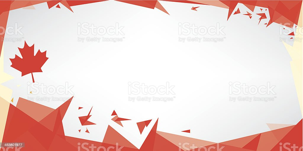 Greeting card origami of Canada vector art illustration