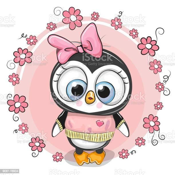 Greeting card penguinl with flowers vector id906178604?b=1&k=6&m=906178604&s=612x612&h=6tiadh xs kwyaw4i3pesiw299kl tncfdlocaveomo=