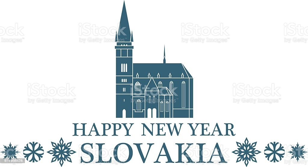 Greeting Card Slovakia vector art illustration