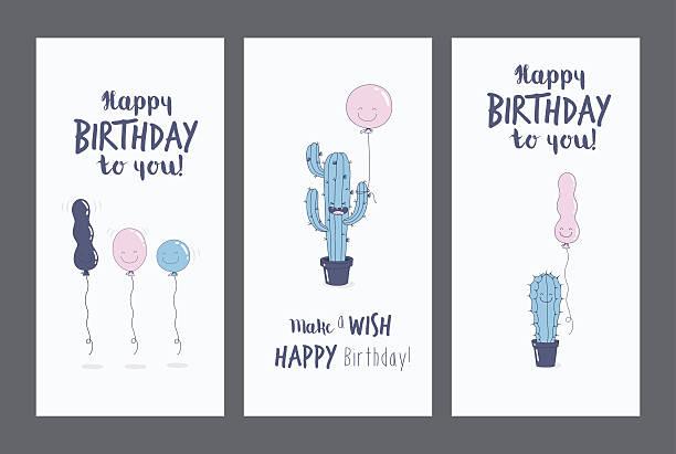 illustrations, cliparts, dessins animés et icônes de carte de voeux et d'anniversaire  - ballon anniversaire smiley