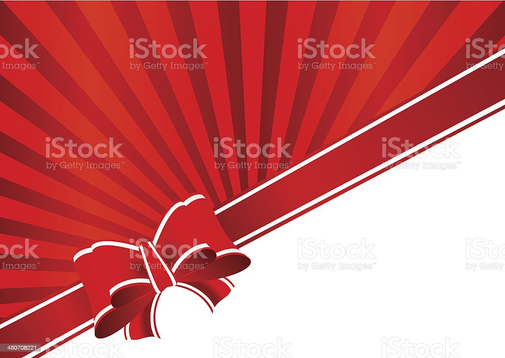 Greeting Card with Bow royalty-free stock vector art
