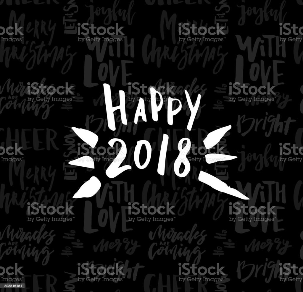 greeting card with calligraphy happy new year 2018 template for congratulations housewarming posters