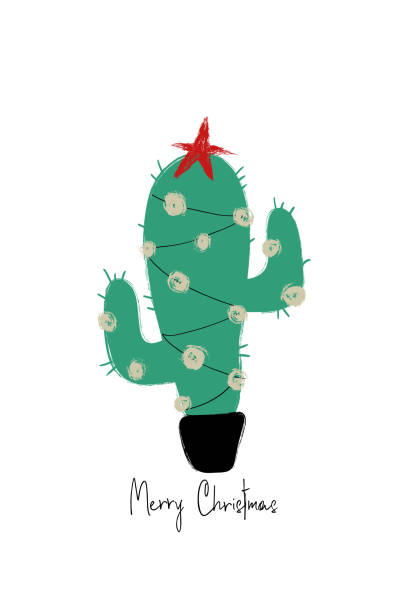 Best Cactus Christmas Tree Illustrations, Royalty-Free Vector Graphics & Clip Art - iStock