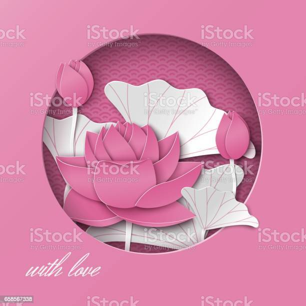Greeting card with cut out round frame and floral background with vector id658567338?b=1&k=6&m=658567338&s=612x612&h=drcjouljfq63w  aikttzcu5hjkepedk9u os 5rxlc=