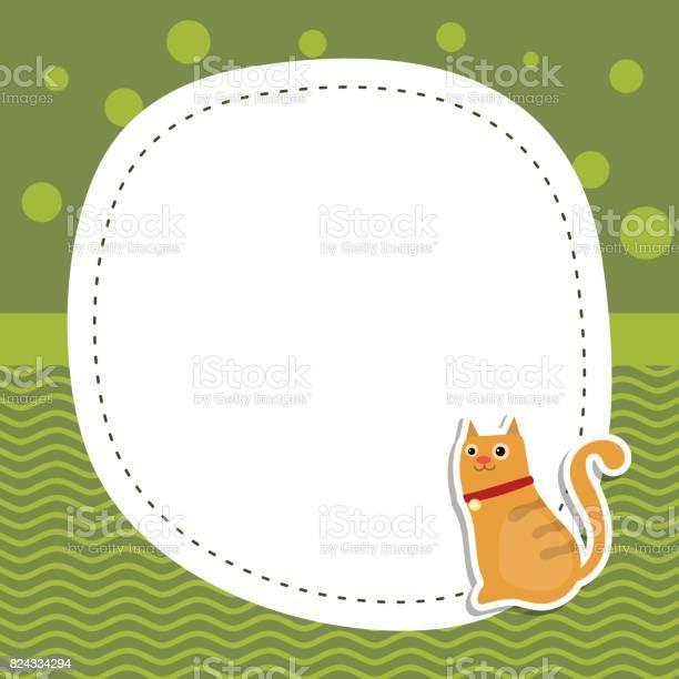Greeting card with cute cat vector id824334294?b=1&k=6&m=824334294&s=612x612&h=riu6esge18ljucmgiehujqbpdprtjl6n8qjyk1qxs3o=