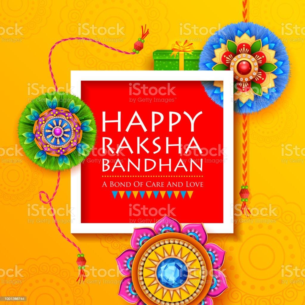 Greeting card with decorative rakhi for raksha bandhan background greeting card with decorative rakhi for raksha bandhan background royalty free greeting card with decorative m4hsunfo