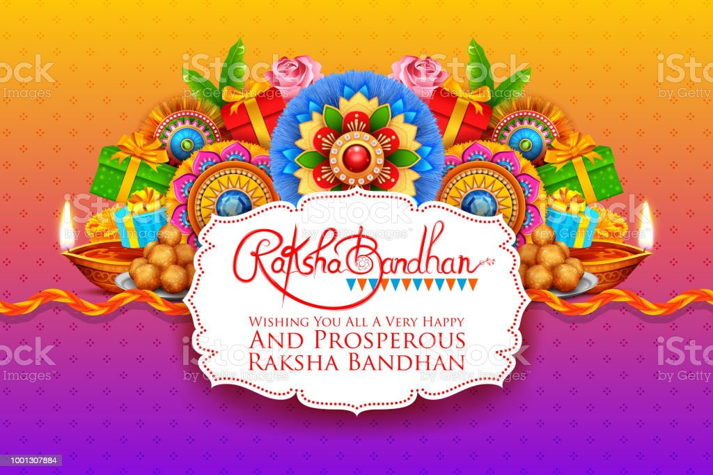 Greeting card with decorative rakhi for raksha bandhan background greeting card with decorative rakhi for raksha bandhan background royalty free greeting card with decorative m4hsunfo