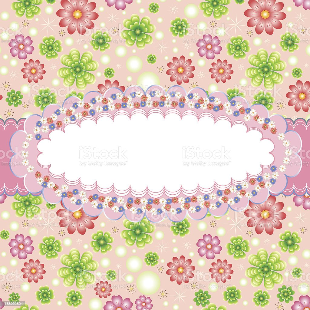 Greeting card with floral ornate frame. royalty-free greeting card with floral ornate frame stock vector art & more images of abstract