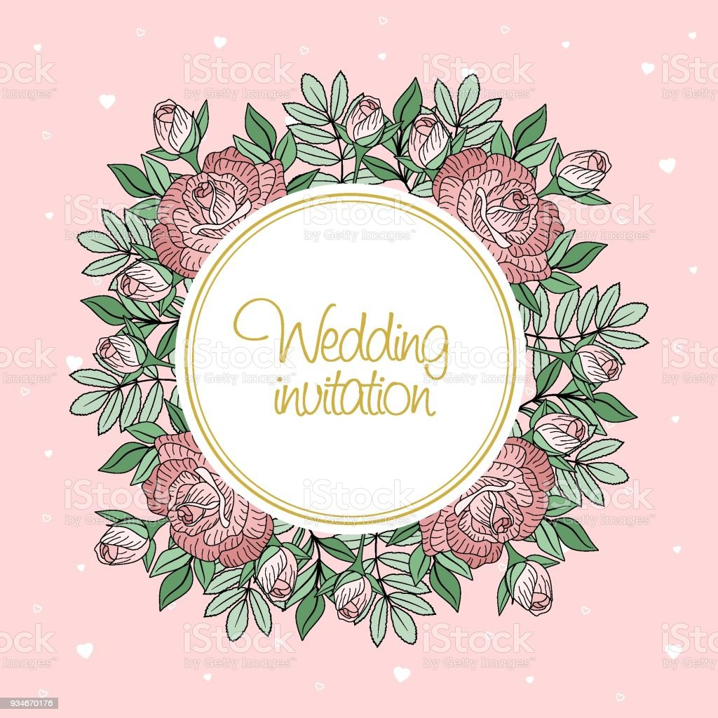 Greeting card with flowers and leaves the concept of wedding greeting card with flowers and leaves the concept of wedding ornament floral poster m4hsunfo