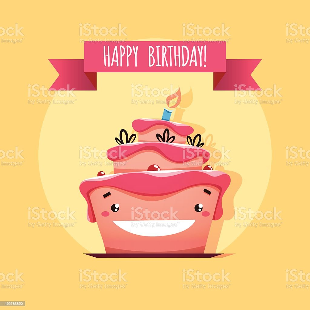 Awesome Greeting Card With Funny Birthday Cake Stockvectorkunst En Meer Personalised Birthday Cards Paralily Jamesorg