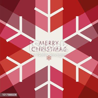 istock Greeting card with geometric Snowflake - Invitation 1017585026