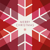 Greeting card with geometric Snowflake - Invitation - Illustration