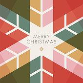 Greeting card with geometric Snowflake - Invitation. Stock illustration