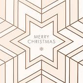 Greeting card with geometric Snowflake - Illustration